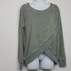 Mystree heathered green sweatshirt sz S